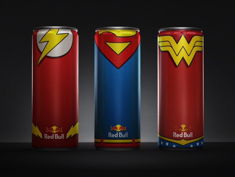 Must Have Justice League-Inspired Red Bull Cans