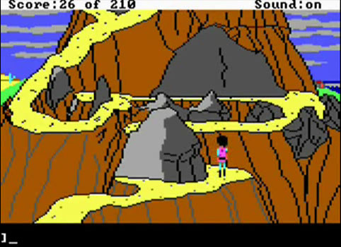 kings Quest III - Remember how many times you fell off the cliff here?