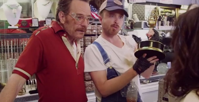 Breaking Bad Stars Reunite for Emmy Spoof Video