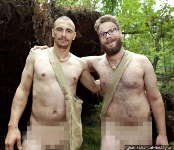 James Franco and Seth Rogen Go Naked on Instagram
