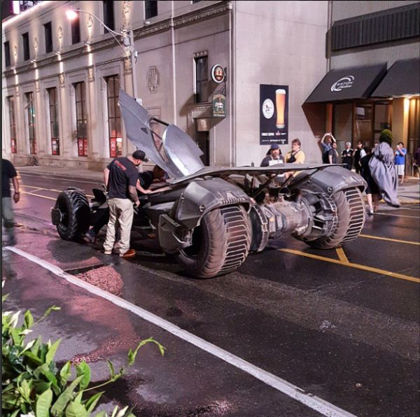 What is the Batmobile Doing on the 'Suicide Squad' Set?