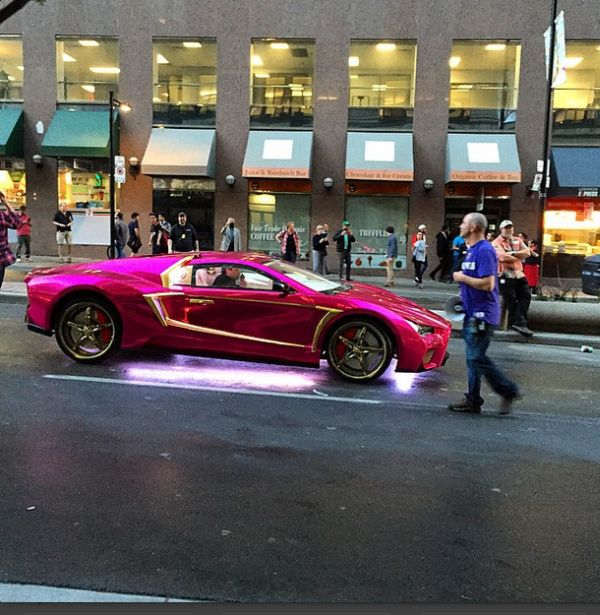 The Joker's Pimped Out Purple Lamborghini Spotted on 'Suicide Squad' Set