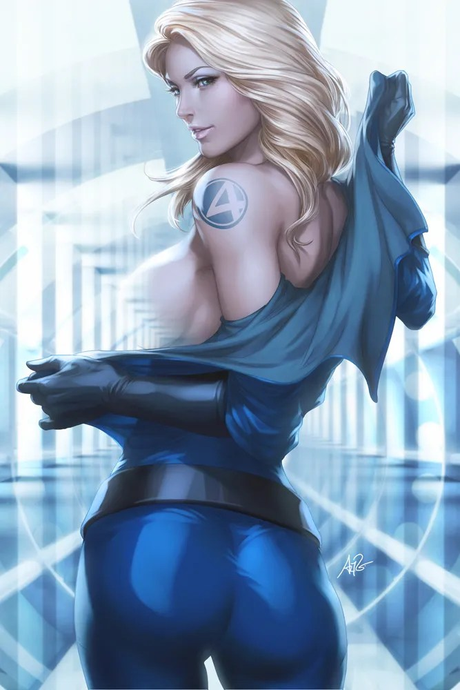 Sexy Invisible Woman Art By Stanley Artgerm Lau
