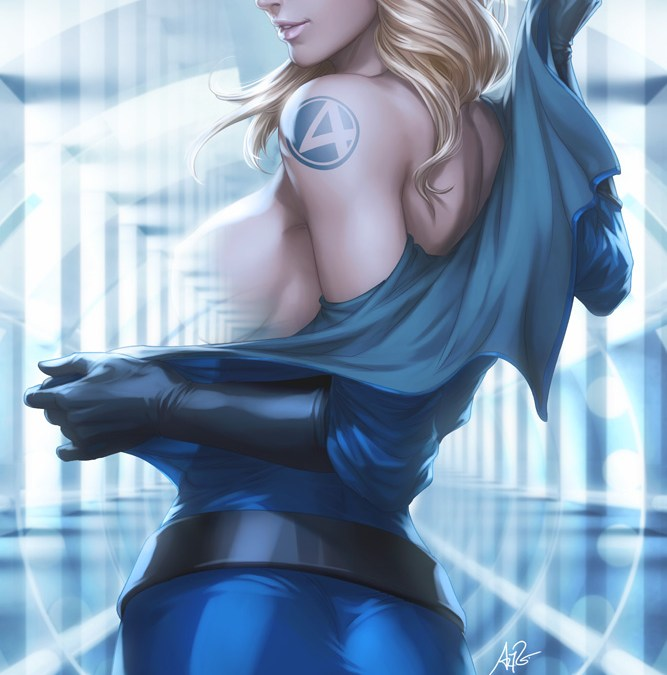 Insanely Sexy Invisible Woman Art By Stanley Artgerm Lau