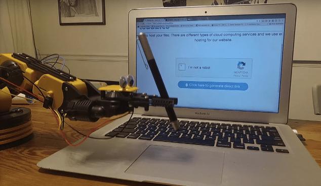 Robotic arms beats captcha