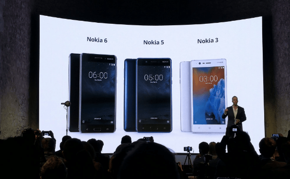 Nokia 3, Nokia 5, Nokia 6 Android Phones announced at MWC17