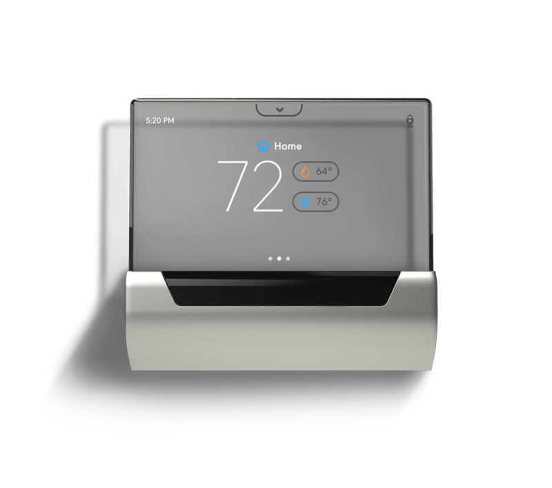 The GLAS Thermostat Integrates A See Through OLED Touch Panel With Cortana