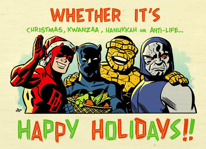 michael-cho-a-kirby-christmas-dare-devil-super-hero-holiday-kwanzaa-hanukkah-anti-life