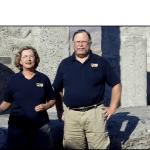 Jim and Chris at Stonehenge in Maryhill, WA