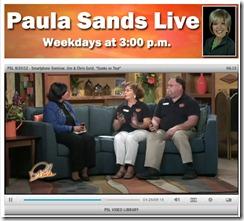 Paula Sands Live interview - WKQC, channel 6 Davenport, Iowa
