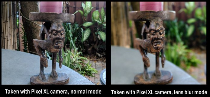 Lens Blur mode on Pixel XL phone