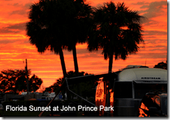 Florida Sunset at John Prince Park