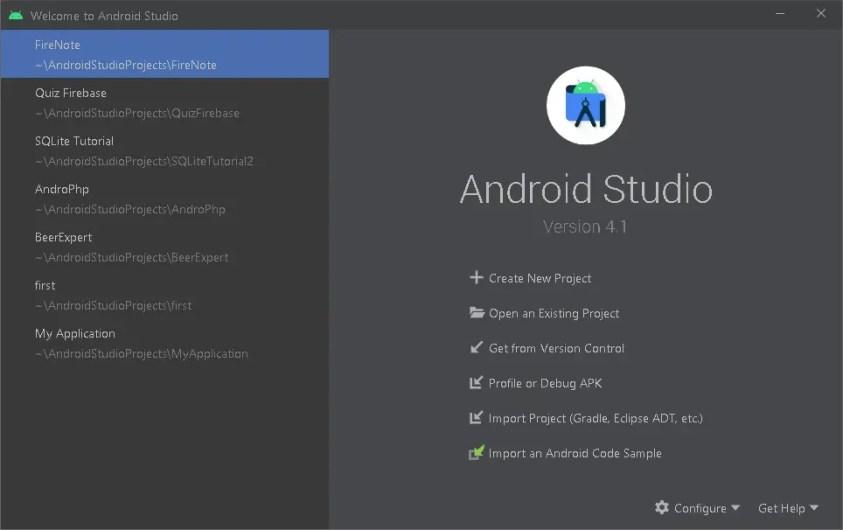 Flutter setup on android studio
