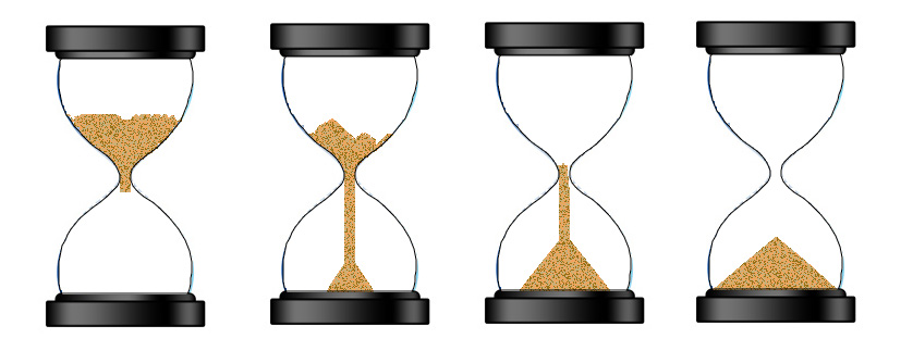 HTML5 Canvas - An egg timer (hourglass) with animated falling sand (5/5)