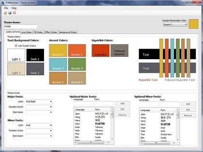 Microsoft Office Theme Builder