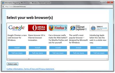 Microsoft EU navegador