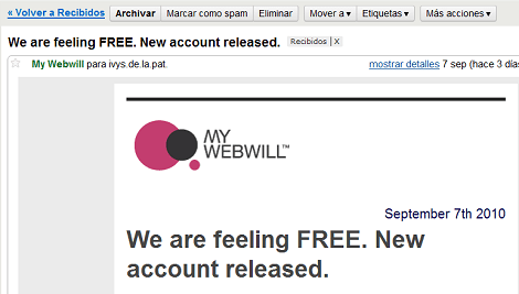 Correo My webwill