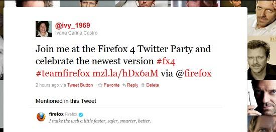 Party Twitter Firefox 4.0
