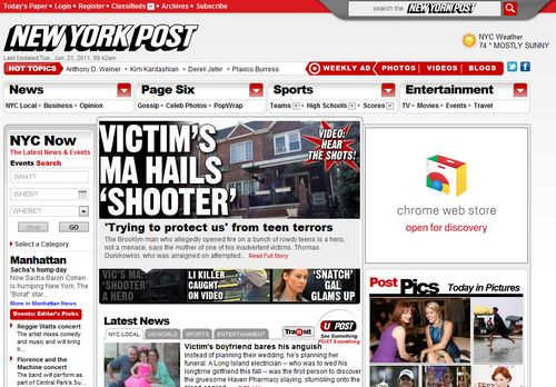 The New York Post bloquea el acceso a su sitio desde iPad con Safari 1