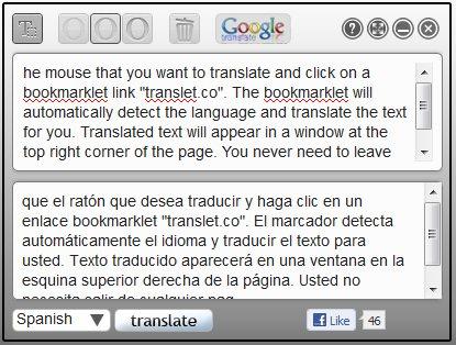 Translet.co, excelente traductor en línea para tu navegador 1