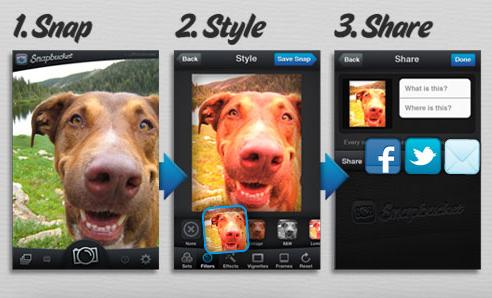 Snapbucket: Captura,edita y comparte fotos con tu smartphone