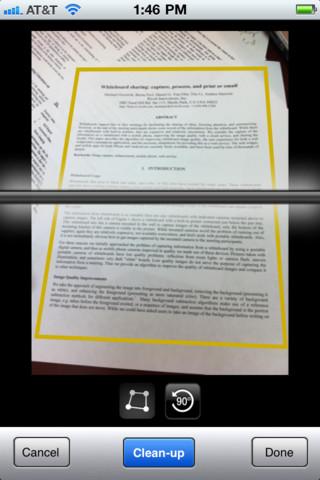 6 aplicaciones gratis de iPhone para escanear documentos 1