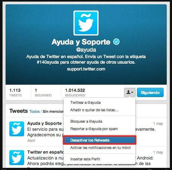 Twitter-desactivarRT