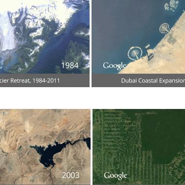 Google nos muestra los cambios ocurridos en la Tierra en 30 años
