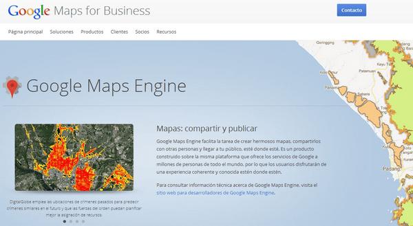 Google lanza Maps Engine Pro para que las empresas importen ... on google monopoly, google earth home, google search, google maps apple,