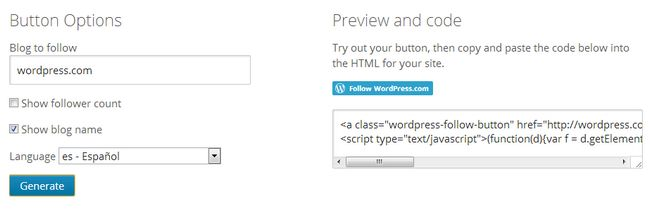 wordpress-com-follow-button-generator