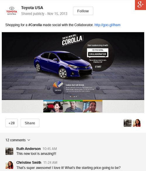 toyota-google-plus-post-plus-ads