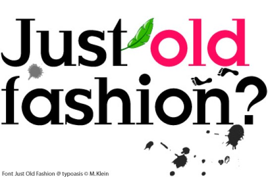 just-old-fashion-font
