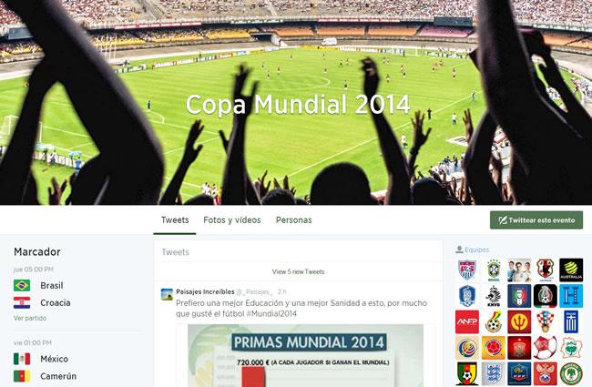 Twitter se suma al #Mundial2014 con eventos programados en la página principal
