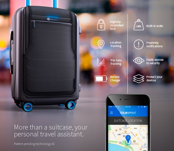 Bluesmart: ¡La valija/maleta más segura e inteligente para llevar a tu viaje!