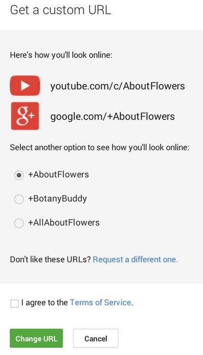 youtube-custom-url