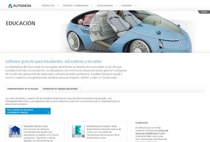autodesk-educación'site