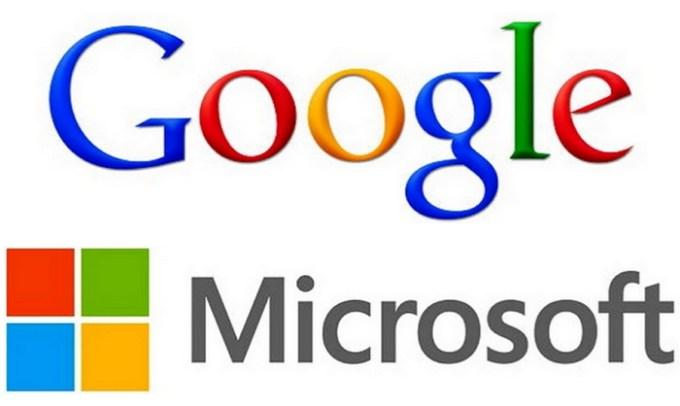 google-microsoft-logos