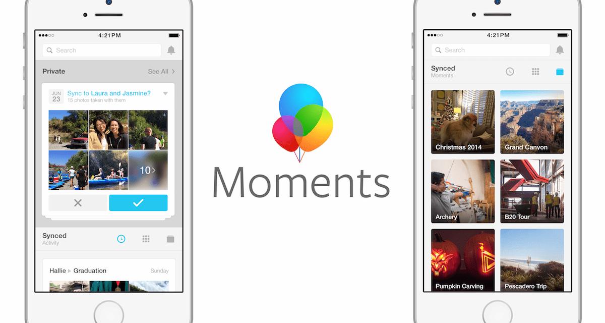 Facebook actualiza Moments, ahora también se pueden compartir vídeos