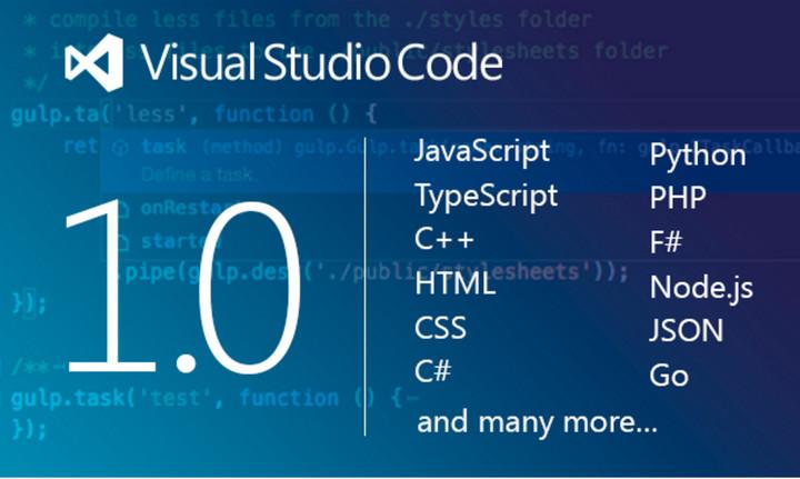 Termina la beta de Microsoft Visual Studio Code, lanzan versión 1.0