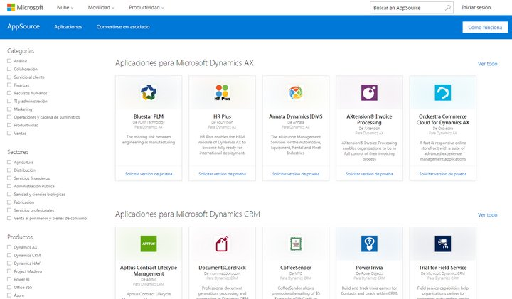 microsoft-appsource-categories