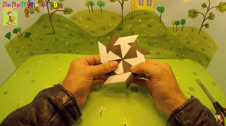 Cómo crear un shuriken de papel