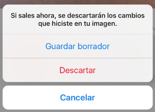 Instagram Guardar Borrador