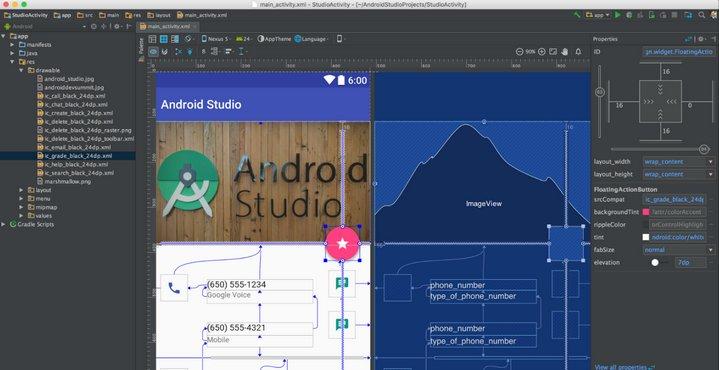 Android Studio 2.2 - Editor de Diseño