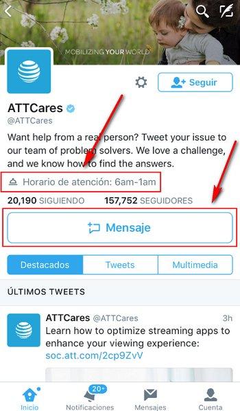Twitter Provides Support Atención al Cliente