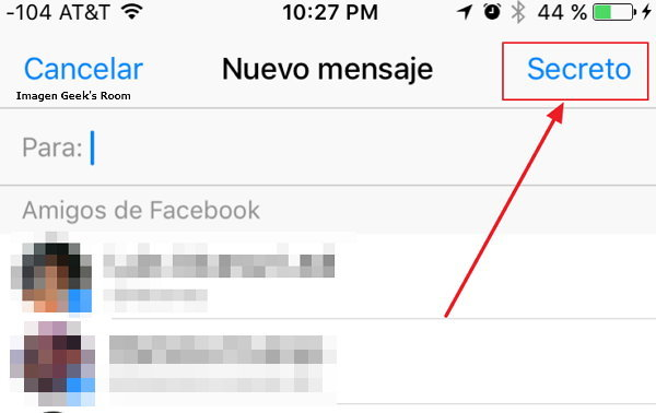 Facebook Messenger Conversaciones Secretas