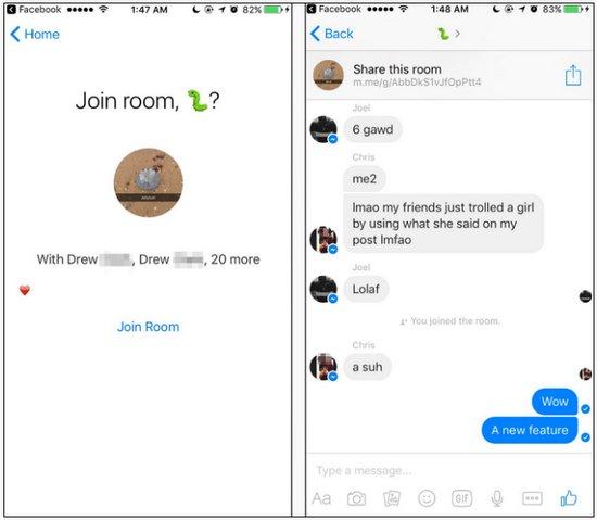 Facebook Live Chat Room
