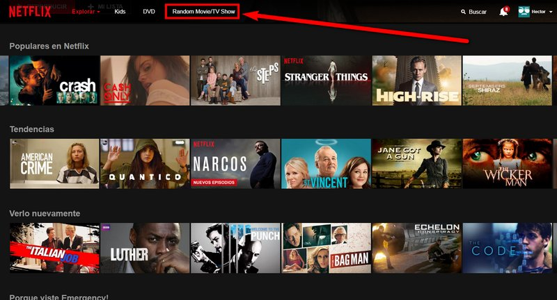 Random Button for Netflix