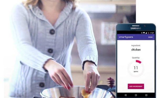La sartén inteligente SmartyPans calcula el valor nutricional de la comida a medida que cocinan
