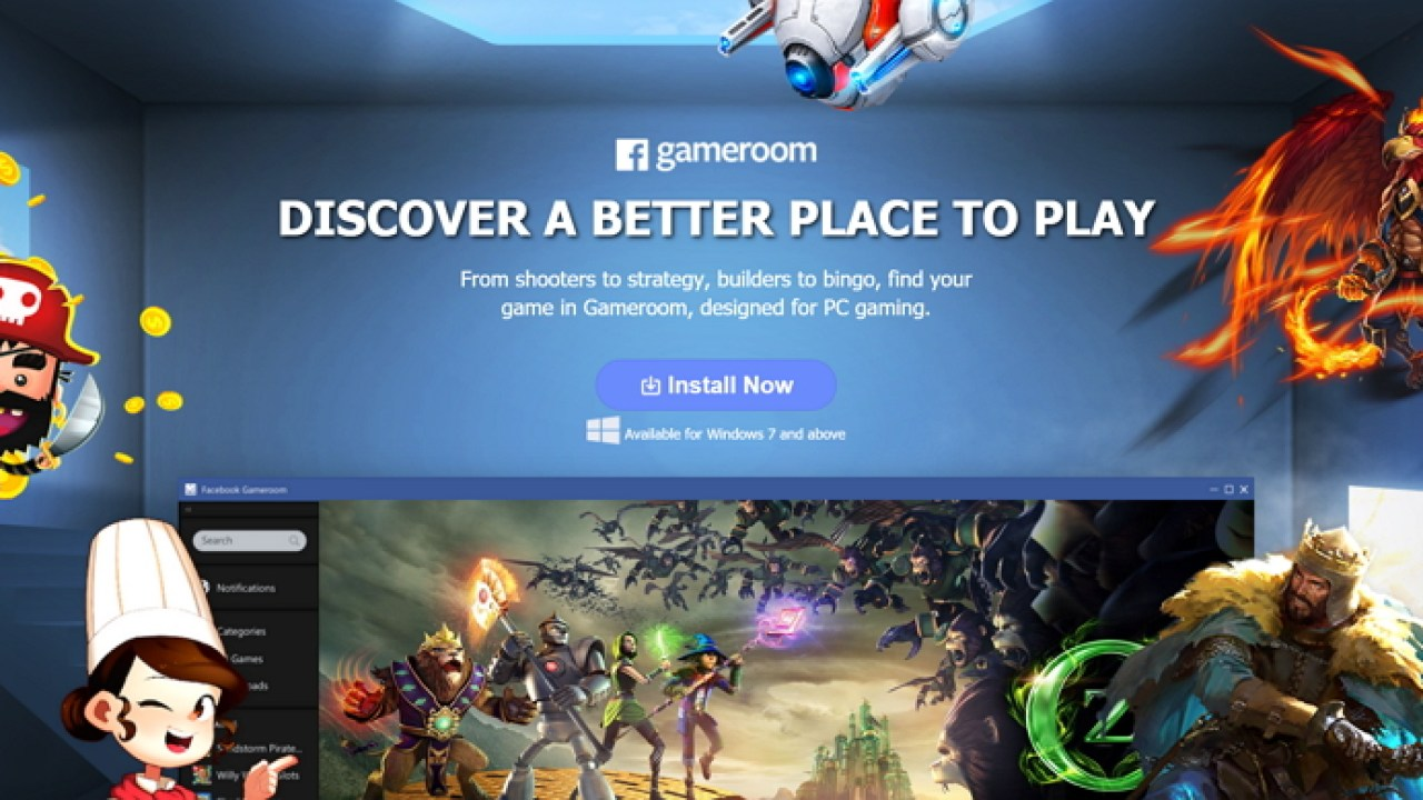 Facebook Gameroom, nueva plataforma de juegos para Windows - Geeks Room