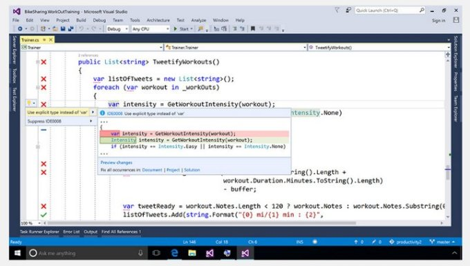 Microsoft Visual Studio 2017 RC